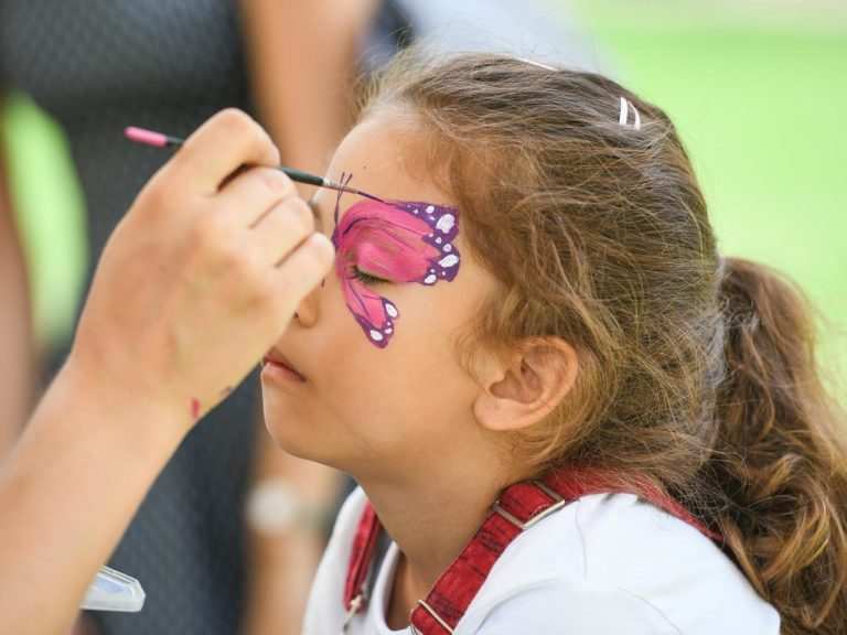 Kids Face Painting at The Brentford Project Summer Series Events